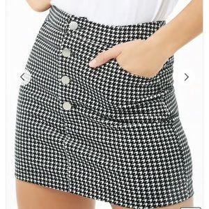 Corduroy Houndstooth Skirt